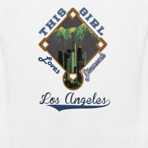 Los Angeles Dodgers This Girl Loves Her Diamonds  - Men's Premium Tank
