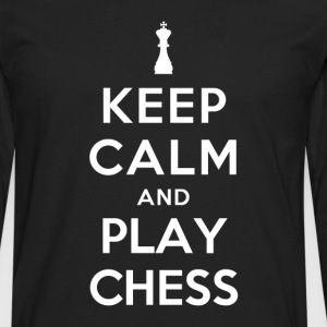 Keep Calm and Play Chess T-Shirts - Men's Premium Long Sleeve T-Shirt
