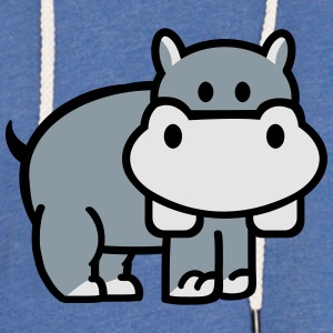 Hippo T-Shirts - Unisex Lightweight Terry Hoodie