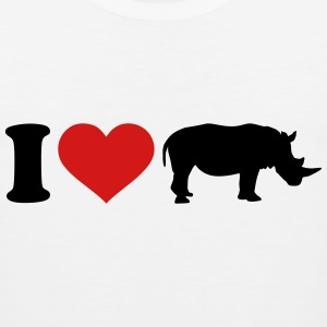 I love Rhino T-Shirts - Men's Premium Tank