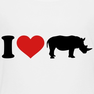 I love Rhino Kids' Shirts - Toddler Premium T-Shirt