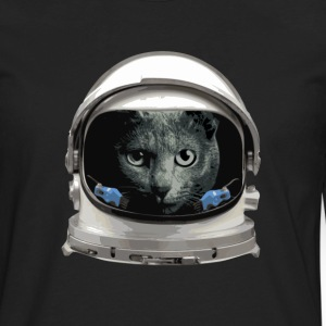 Space Helmet Astronaut Cat Women's T-Shirts - Men's Premium Long Sleeve T-Shirt