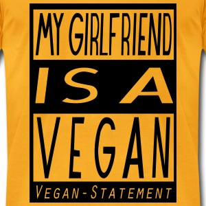 My Girlfriend is a Vegan Bags & backpacks - Men's T-Shirt by American Apparel