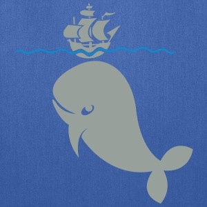 Wal under pirate ship Shirt - Tote Bag
