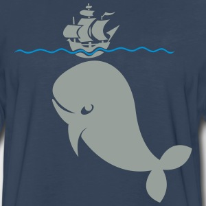 Wal under pirate ship Shirt - Men's Premium Long Sleeve T-Shirt