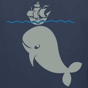 Wal under pirate ship Shirt - Men's Premium Tank