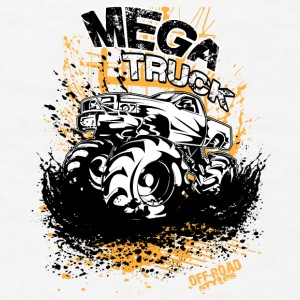 Mega Mud Truck Bottles & Mugs - Men's T-Shirt
