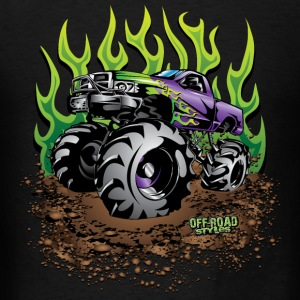 Mud Truck Green Flame Long Sleeve Shirts - Men's T-Shirt