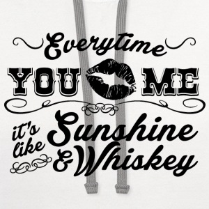 Sunshine And Whiskey - Contrast Hoodie