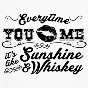 Sunshine And Whiskey - Men's Premium Long Sleeve T-Shirt