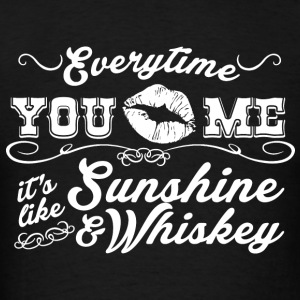 Sunshine And Whiskey - Men's T-Shirt