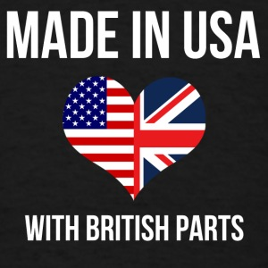 made_in_usa_with_british_parts Baby & Toddler Shirts - Men's T-Shirt