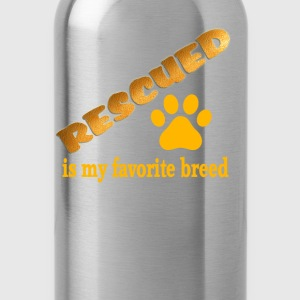 Rescued is My Favorite Breed - Water Bottle