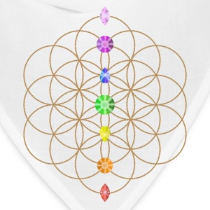 Flower Of Life With Chakra Stones Phone & Tablet Cases - Bandana