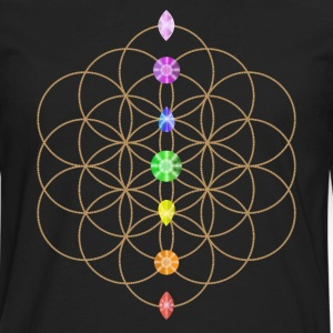 Flower Of Life With Chakra Stones Kids' Shirts - Men's Premium Long Sleeve T-Shirt