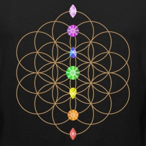 Flower Of Life With Chakra Stones Kids' Shirts - Men's Premium Tank