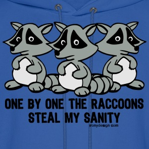One By One The Raccoons Humor - Men's Hoodie