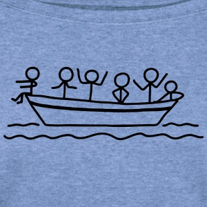 Party on board - Boat Party T-Shirts - Women's Wideneck Sweatshirt