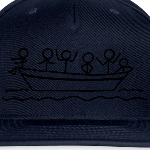 Party on board - Boat Party T-Shirts - Snap-back Baseball Cap
