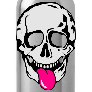 A skull stretched tongue out  Tanks - Water Bottle