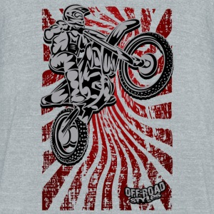 FMX Dirt Biker Red Mugs & Drinkware - Unisex Tri-Blend T-Shirt by American Apparel