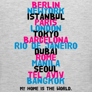 Berlin New York Istanbul Paris London Tokyo T-Shirts - Men's Premium Tank