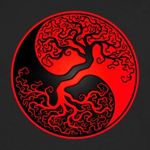 Red and Black Tree of Life Yin Yang Kids' Shirts - Men's Premium Long Sleeve T-Shirt
