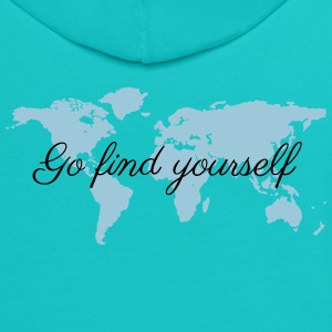 Go Find Yourself - Travel The World! T-Shirts - Contrast Hoodie