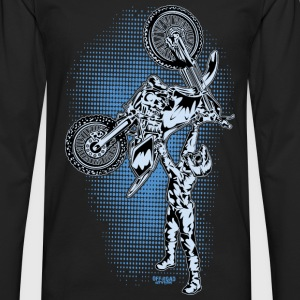 FMX Dirt Biker Blue Kids' Shirts - Men's Premium Long Sleeve T-Shirt