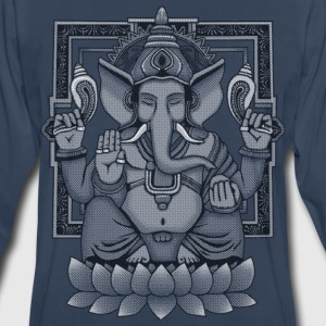 Ganesha Distressed T-Shirts - Men's Premium Long Sleeve T-Shirt