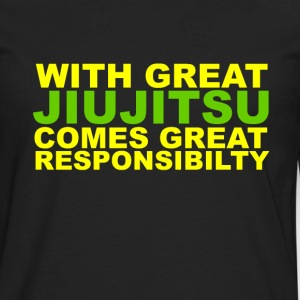 With Great Jiujitsu Responsibilty T-Shirts - Men's Premium Long Sleeve T-Shirt