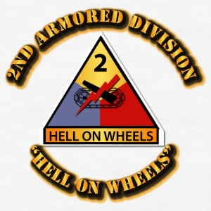 Army - 2nd Armored Division - Hell on Wheels - Men's T-Shirt