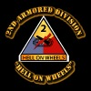 Army - 2nd Armored Division - Hell on Wheels - Men's Premium T-Shirt
