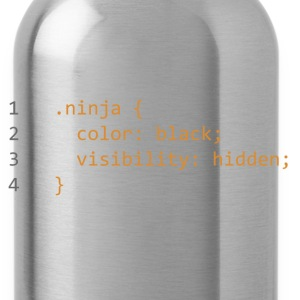CSS Coding Ninja  T-Shirts - Water Bottle