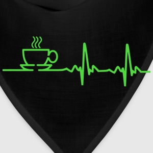Morning Coffee Heartbeat EKG Women's T-Shirts - Bandana