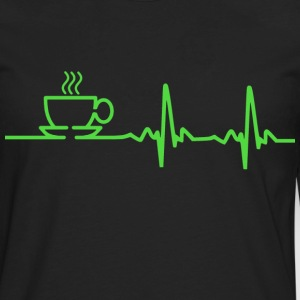 Morning Coffee Heartbeat EKG Women's T-Shirts - Men's Premium Long Sleeve T-Shirt