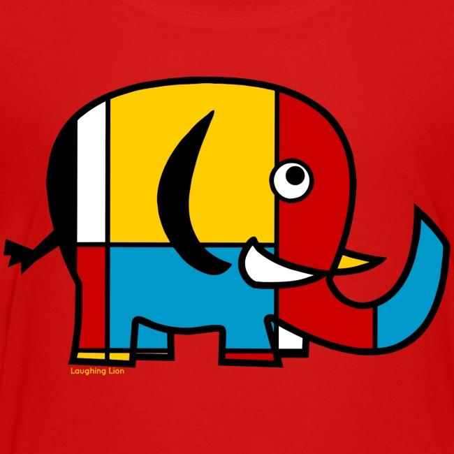 Mondrian Elephant Kids T-Shirt