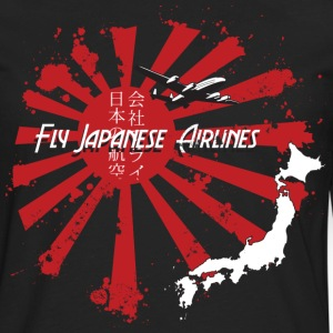 Japanese Airlines Vintage T-Shirts - Men's Premium Long Sleeve T-Shirt