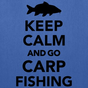 Keep calm and Carp Fishing T-Shirts - Tote Bag