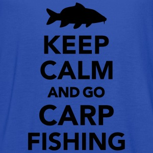 Keep calm and Carp Fishing Kids' Shirts - Women's Flowy Tank Top by Bella