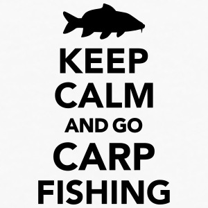 Keep calm and Carp Fishing Bottles & Mugs - Men's Premium Long Sleeve T-Shirt