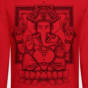Ganesha Distressed Black Women's T-Shirts - Crewneck Sweatshirt