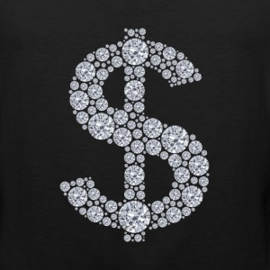 Diamond Dollar Sign Bling Women's T-Shirts - Men's Premium Tank