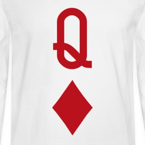 Queen of Diamonds Red Playing Card Women's T-Shirts - Men's Long Sleeve T-Shirt