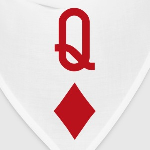 Queen of Diamonds Red Playing Card Women's T-Shirts - Bandana