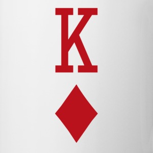 King of Diamonds Red Playing Card T-Shirts - Coffee/Tea Mug