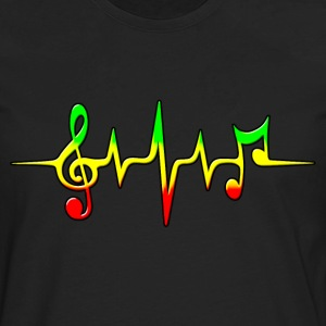 REGGAE MUSIC, NOTE, PULSE, FREQUENCY, CLEF T-Shirts - Men's Premium Long Sleeve T-Shirt