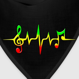 REGGAE MUSIC, NOTE, PULSE, FREQUENCY, CLEF T-Shirts - Bandana