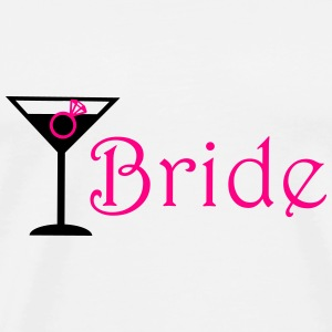 bride cocktails with ring Tanks - Men's Premium T-Shirt