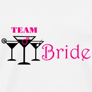 team bride cocktails with ring Tanks - Men's Premium T-Shirt